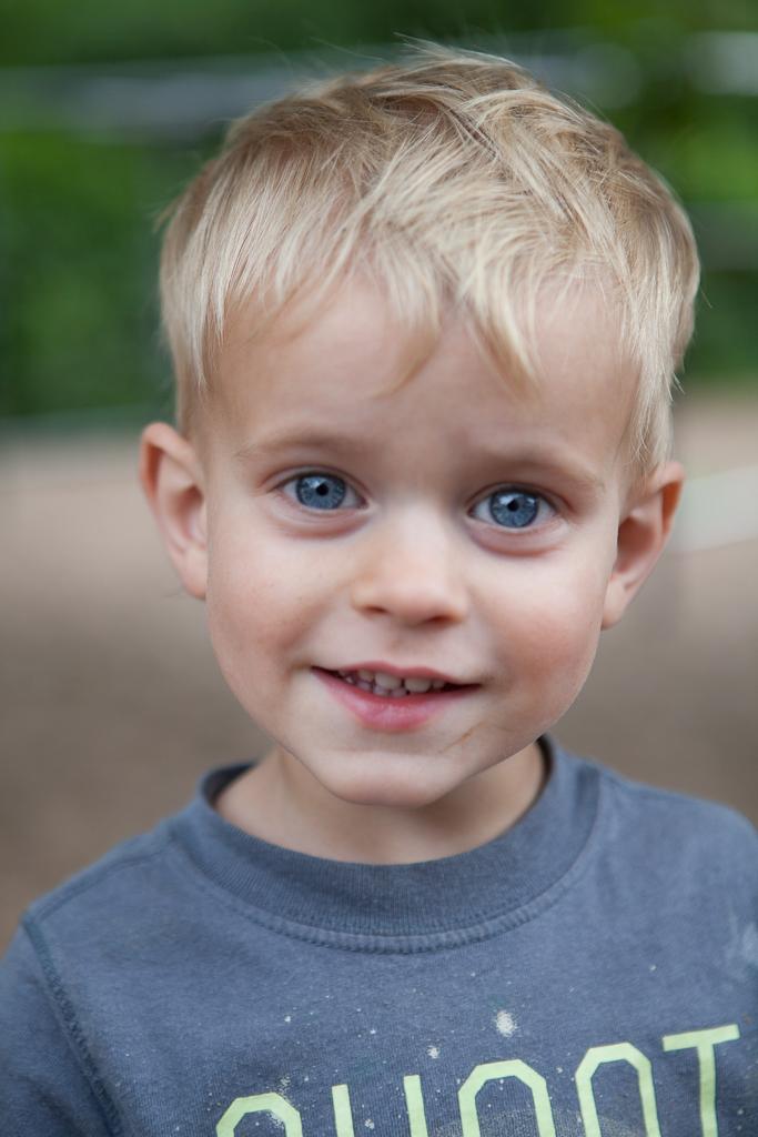 Black Hair Blue Eyes Little Boy
