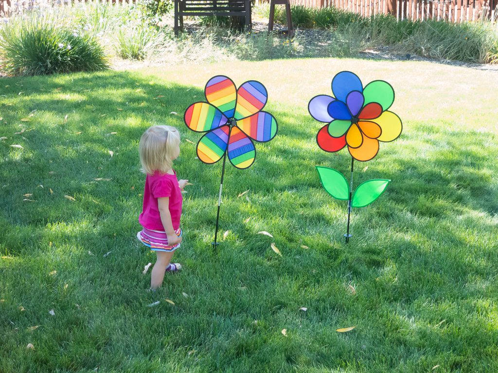 Addison loved these harmless spinning things