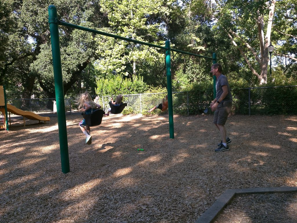 Campa enlisted to push all three swings