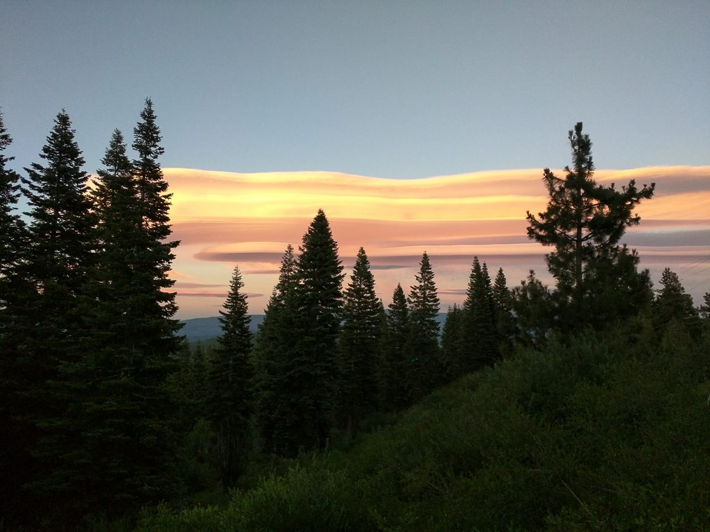 Beautiful sunset from the cabin