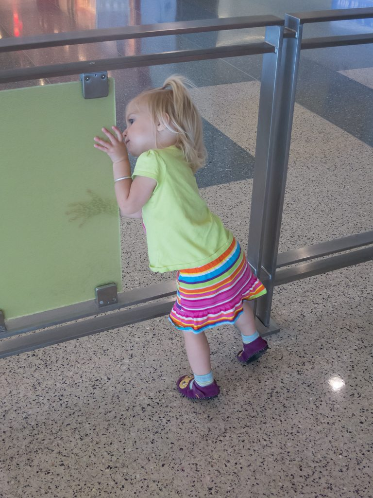 Addison enjoying my full attention at the airport